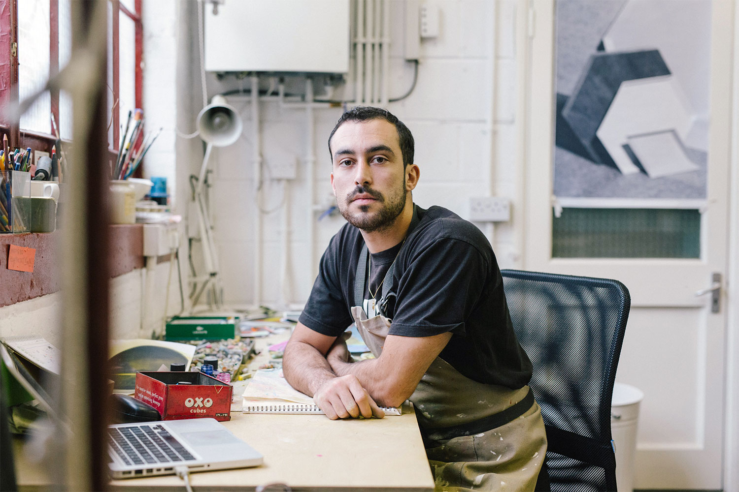 Joe Cruz in his studio, by Lauren Maccabee