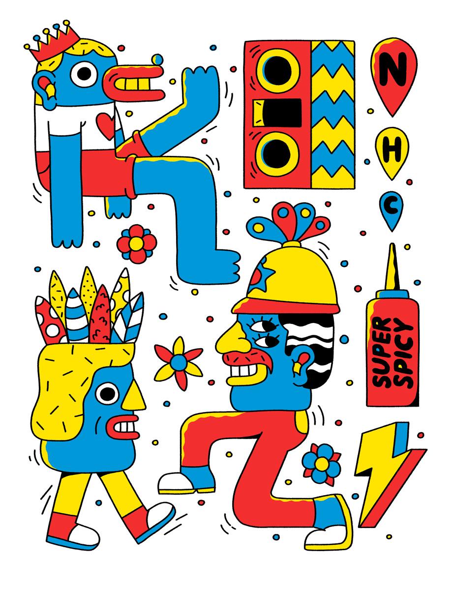 Super Freak's Notting Hill Carnival design