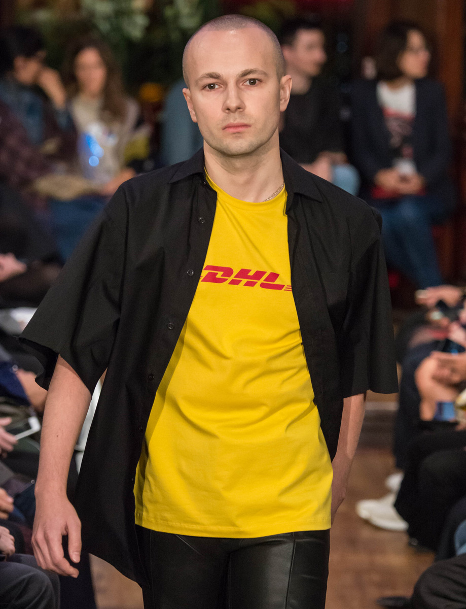 vetements dhl t shirt