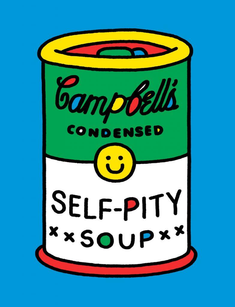 super freak andy warhol campbells soup illustration