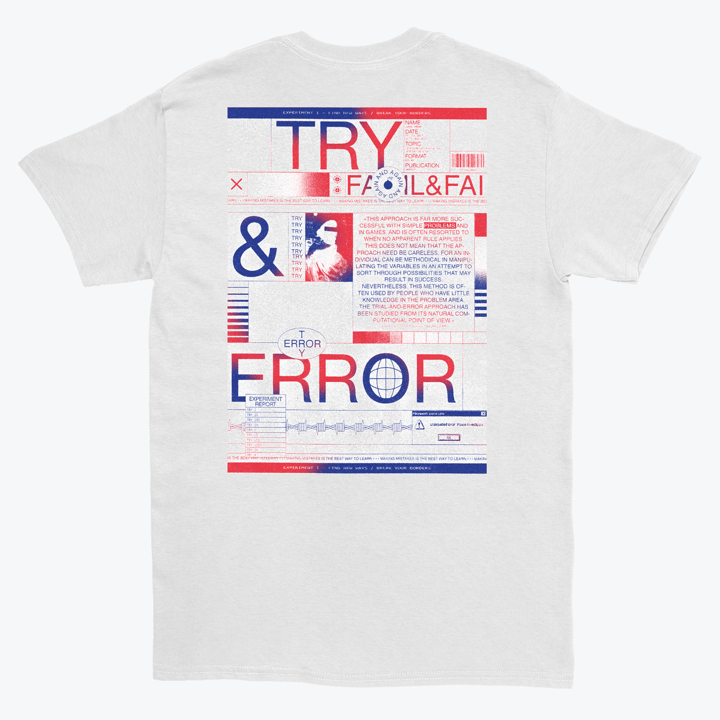 Lucas Hesse 'Try and Error' T-shirt