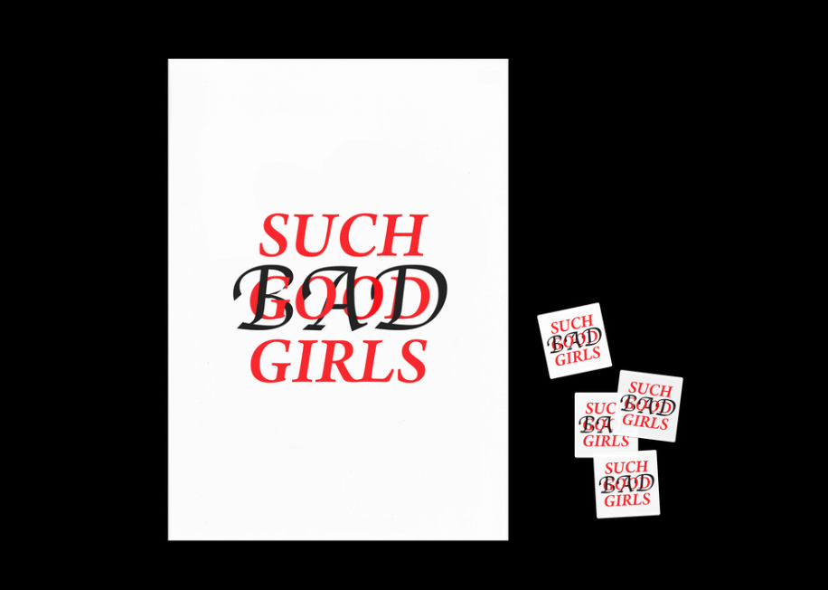 Such Bad Girls A2 Risograph prints by Francesca Williams