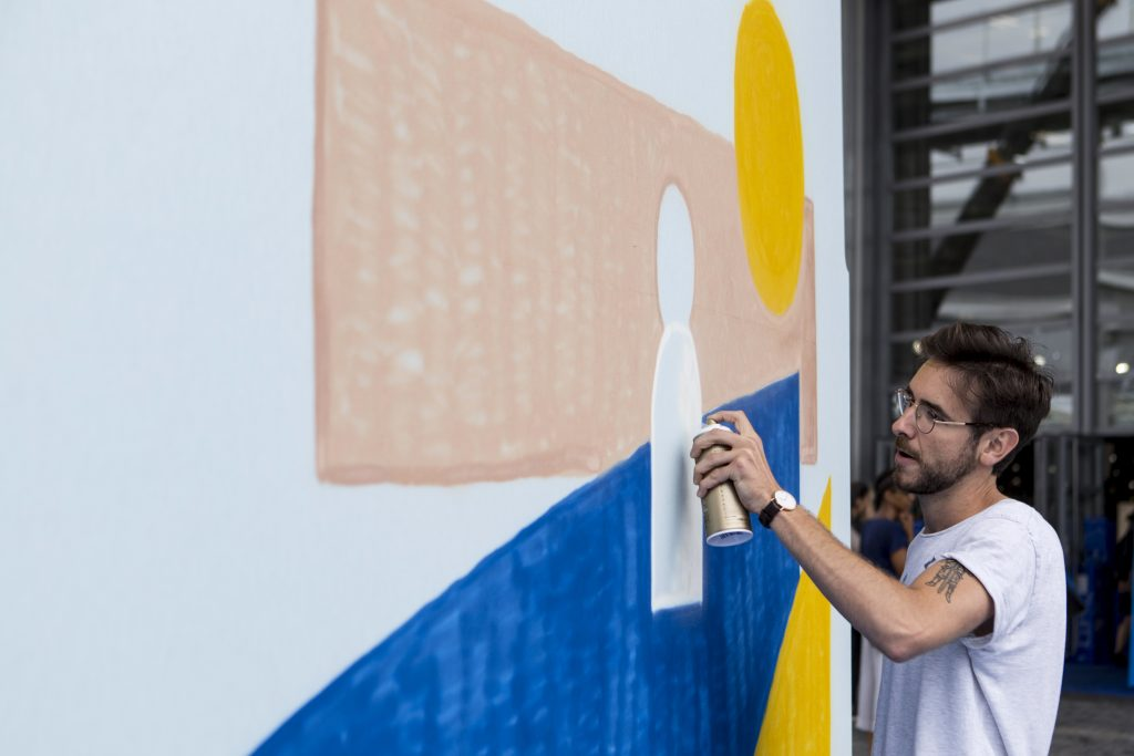 Wall painting for whosnextdotcom. Photography by Yannick Roudier