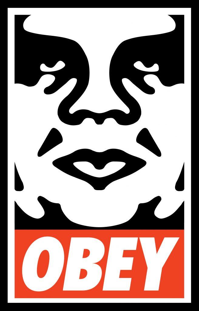 Shepard Fairey OBEY sticker