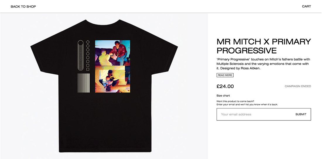 mr mitch progressive t-shirt collaboration