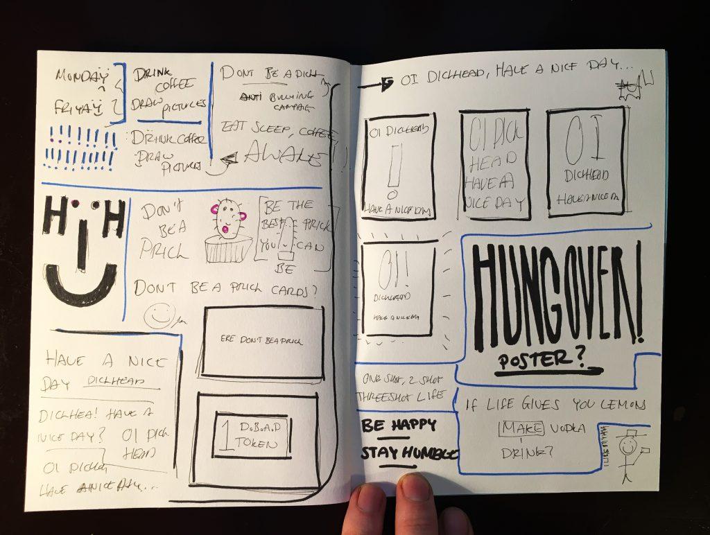 Ben Mottershead sketchbook