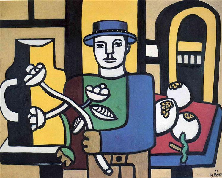 The Man In The Blue Hat by Fernand Léger