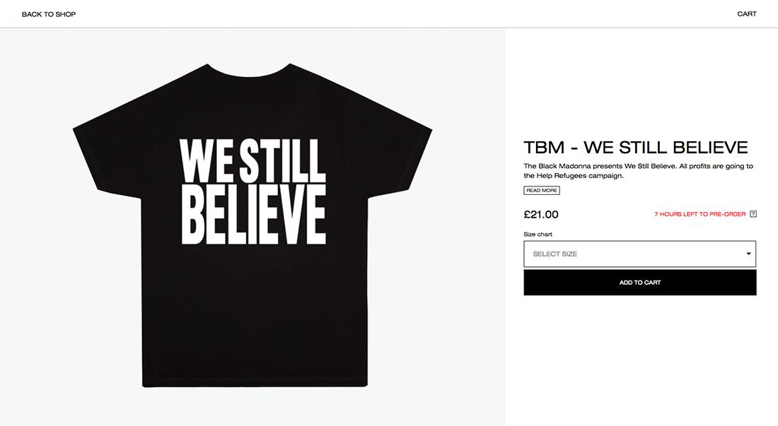 we still believe black madonna t-shirt