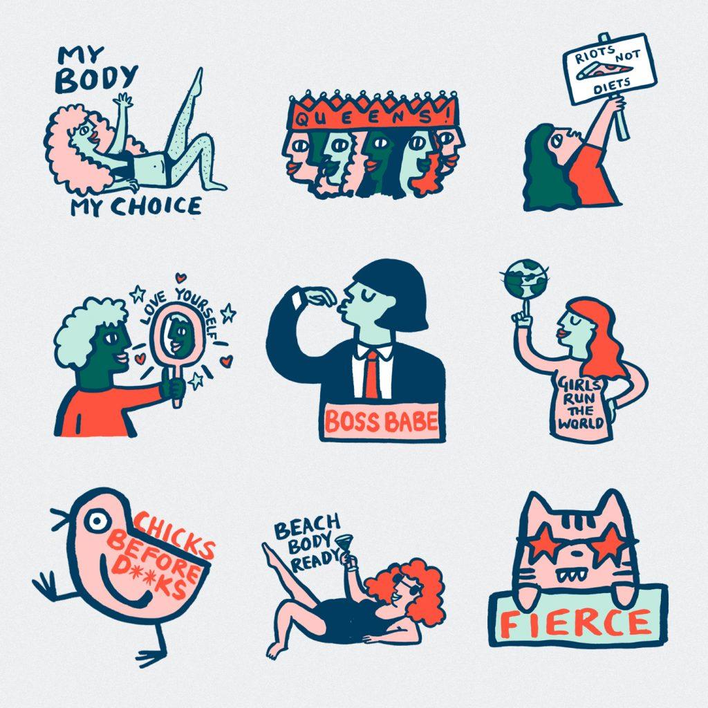 Stickers by Alice Bowsher