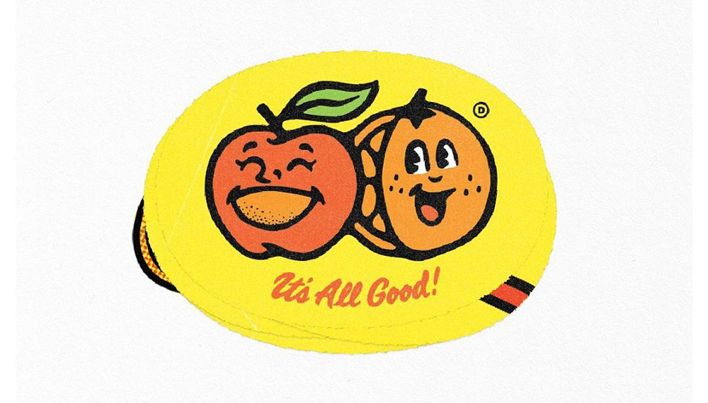 Fruit Stickers x Open Daily Apples & Oranges design