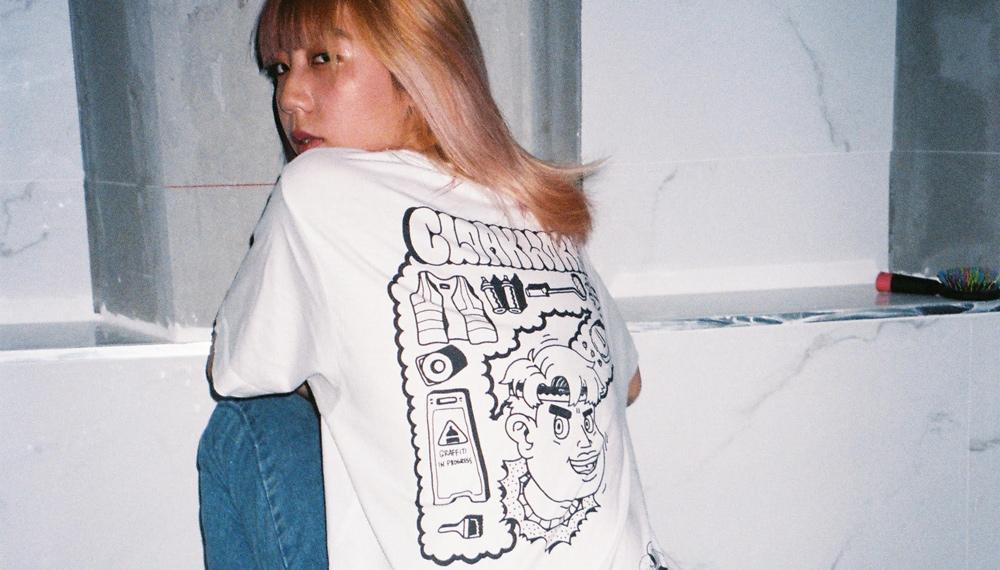 Cloakwork's 'No Paint, No Gain' T-shirt photographed by