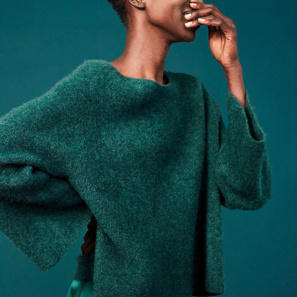 Eileen Fisher cashmere sweater, image courtesy of Eileen Fisher