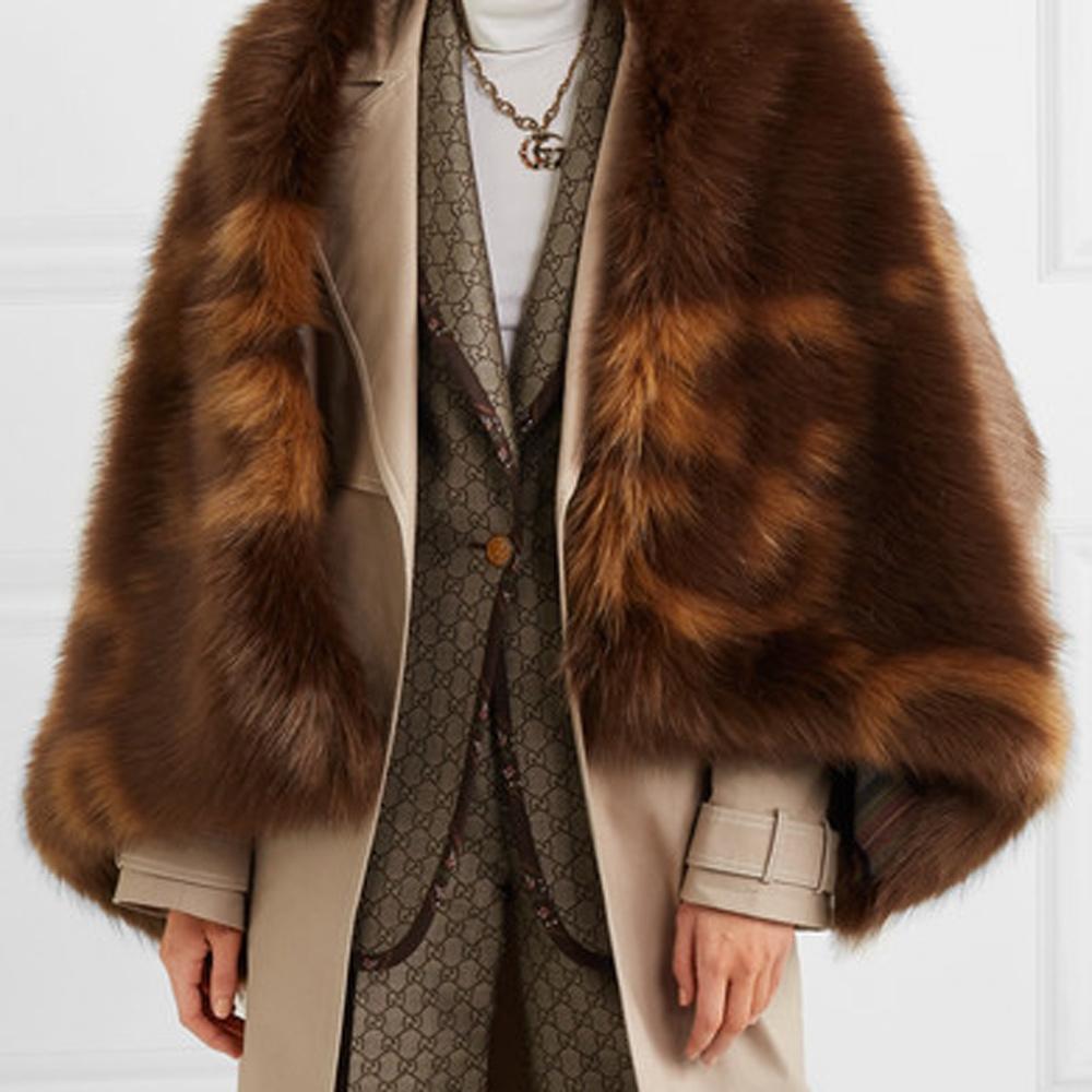 Gucci GG faux fur wrap, image courtesy of Gucci