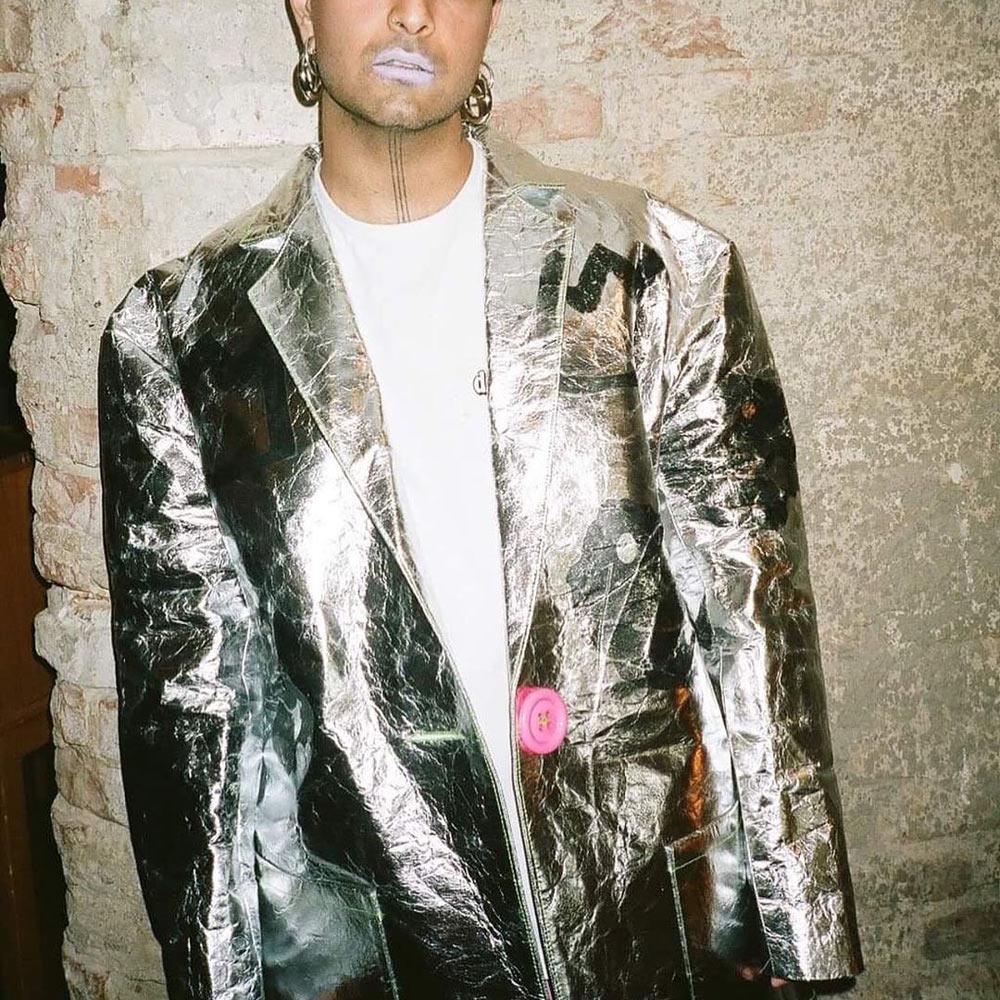 Eirinn Hayhow Pineapple Long Leather Jacket made with Piñatex, photographed by Kymberley Apiro