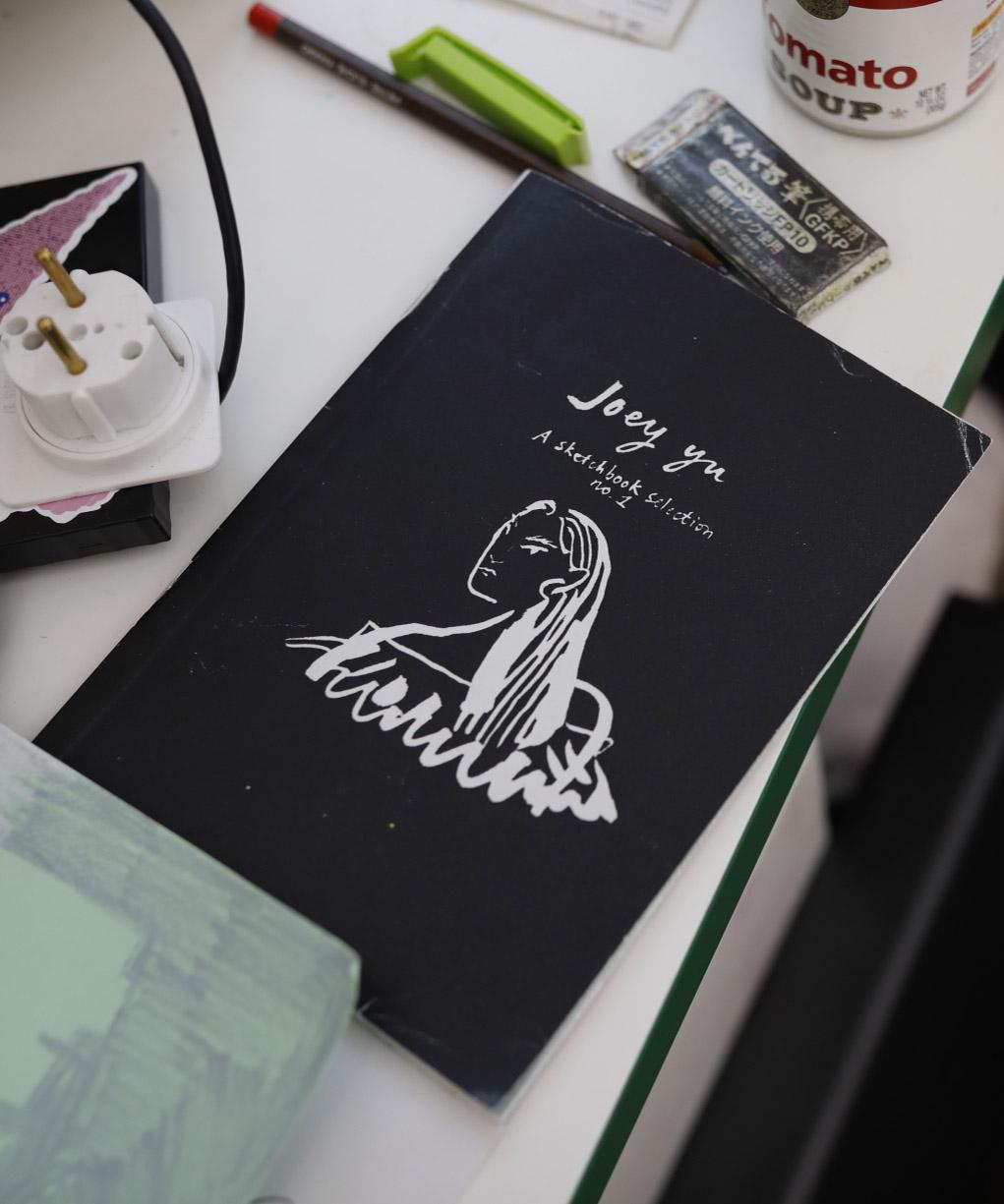 Joey Yu's sketchbook, photographed by Dean Martindale (@deanmartindale)