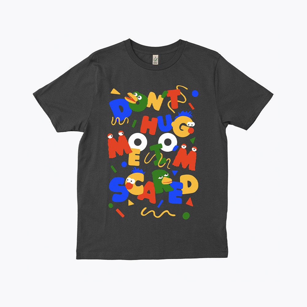 Everpress-blog-20-favourite-t-shirt-designs-2020-becky-sloan-dont-hug-me-im-scared